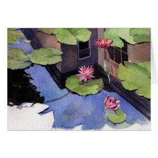 Note card, Lilly pad