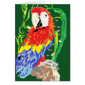 Note Card/ Parrot Card