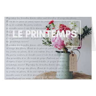 Note Card - Springtime - French Country