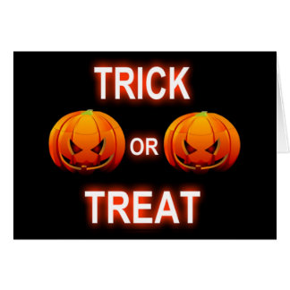Note Card Trick Or Treat Pumpkins