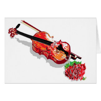 Note Card /Violin with a Rose