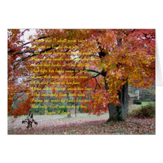 Note Card with autumn colored Oak Tree