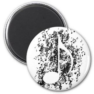 Note Explosion 6 Cm Round Magnet