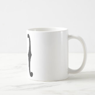 Note f holes coffee mug