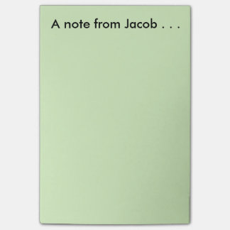 Note from Jacob