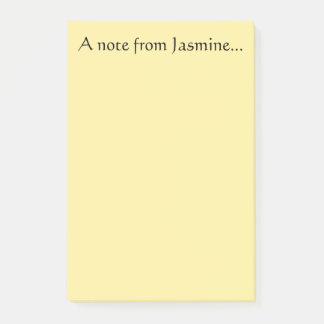 Note from Jasmine
