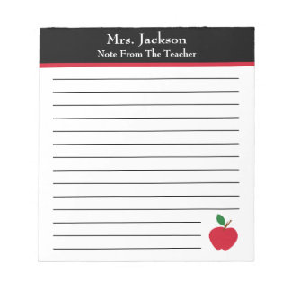 Note From The Teacher | Apple Elementary