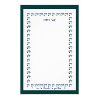 Note Pad- Design 10 Personalised Stationery