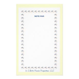 Note Pad- Design 2 Stationery Design