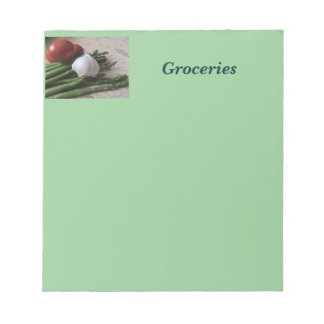 Note Pad--Groceries Asparagus