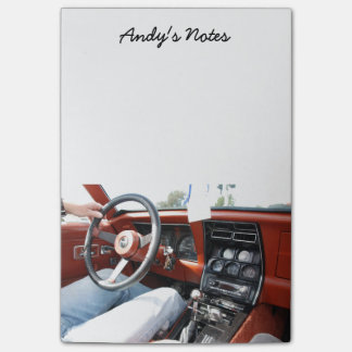 Note Pad with 1981 Corvette Car Interior