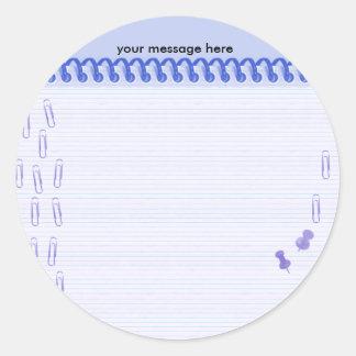 Note Paper Sticker