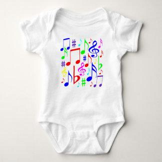 note rainbow baby bodysuit