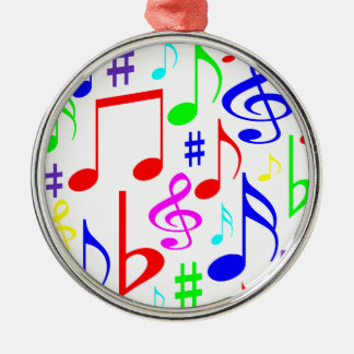note rainbow metal ornament