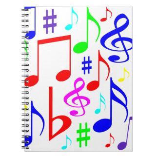 note rainbow notebooks
