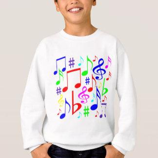 note rainbow sweatshirt