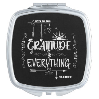 Note to Self Gratitude is Everything Chalkboard Mirror For Makeup