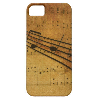 Note vintage style iPhone 5 cover