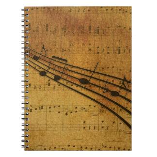 Note vintage style notebooks