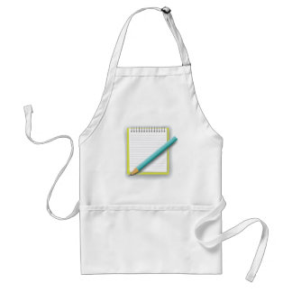 notebook and pencil standard apron