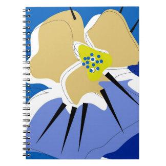 notebook, BLUE PANSY Notebook