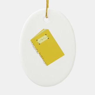 Notebook Ceramic Ornament