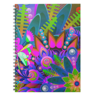 Notebook:  Color burst patterns Notebook