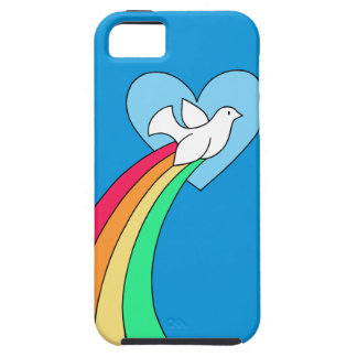 Notebook Doodles Rainbow Heart Dove Phone Case