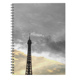 notebook Eiffel Tower gold and money