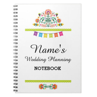 Notebook Fiesta Wedding Planning Ideas Notes