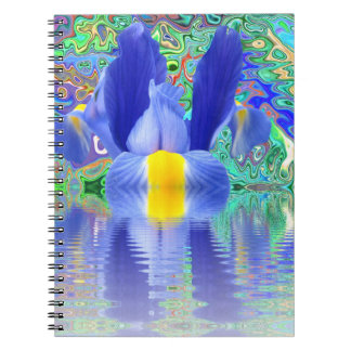 Notebook:  Flower with color burst Notebooks