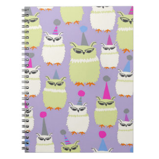 Notebook- Grape Screech Owls! Notebooks