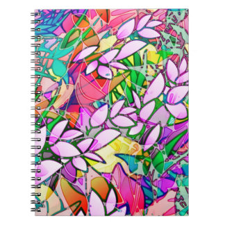 Notebook Grunge Art Floral Abstract