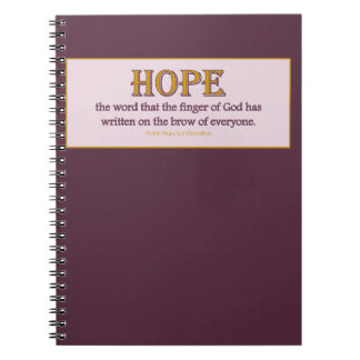 Notebook: Hope Notebook