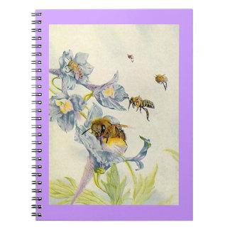 Notebook Journal Beekeeper Honeybee bees Diary
