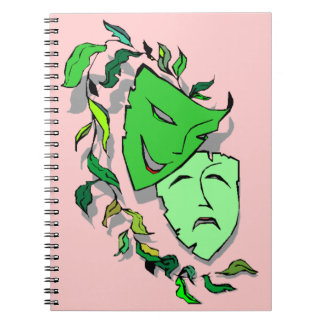 Notebook Journal Comedy Tragedy Masks Drama Diary