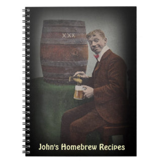 Notebook Journal Homebrew Recipe Book Personalized