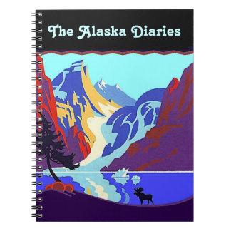 Notebook Journal Vintage Alaska Travel Diary Moose