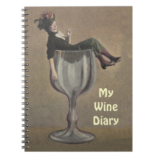 Notebook Journal Wine Recipe Book Antique Fun