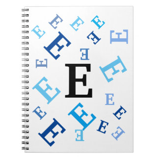 Notebook - Jumbled Blue Letters