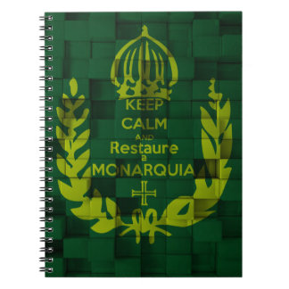 Notebook Keep Clam and Restaure the Monarchy