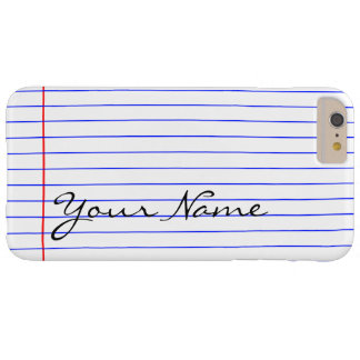 Notebook Lines (Put Your Name) Barely There iPhone 6 Plus Case