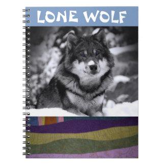 Notebook: Lone Wolf Spiral Notebook