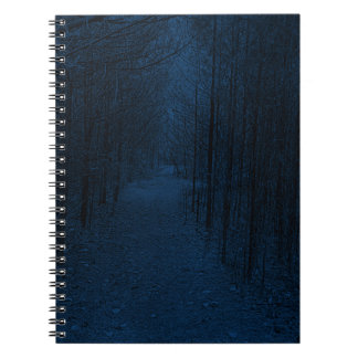 Notebook - Nature Trail Pattern Blue