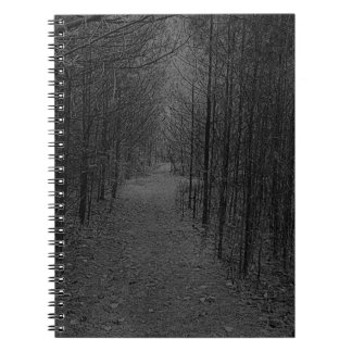 Notebook - Nature Trail Pattern Gray