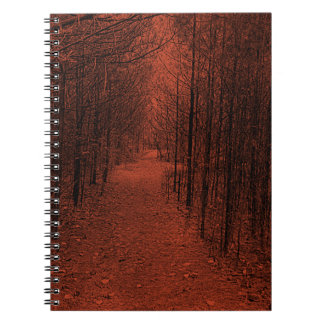 Notebook  - Nature Trail Pattern Red