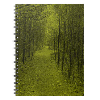 Notebook - Nature Trail Pattern Yellow
