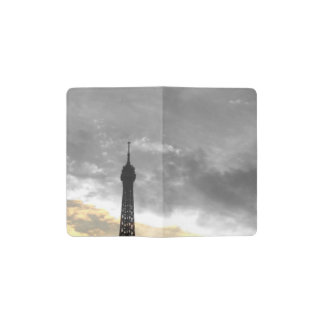 notebook of pocket tower Eiffel gold and money