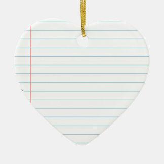 Notebook Paper Ceramic Heart Decoration
