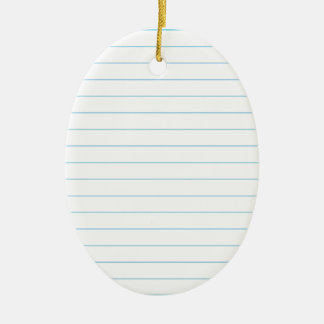 Notebook Paper Ceramic Oval Decoration